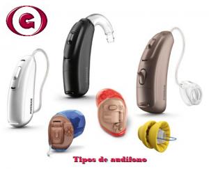 tipos de audífono