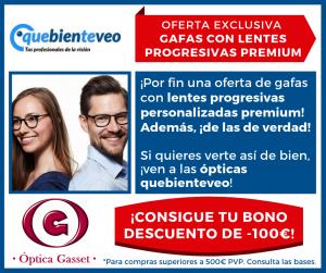 Promociones en gafas progresivas premium Aneop en Óptica Gasset