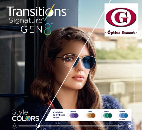Lentes fotocromáticas Transitions Signature Gen 8 de Essilor