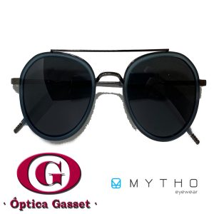 Gafas Zapeando de metal con aro de acetato y lentes polarizadas